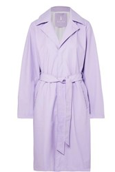 Rains Matte Pu Trench Coat Lilac