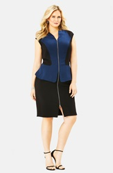 Mynt 1792 Peplum Dress Plus Size Dress Blue