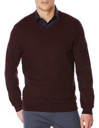 Perry Ellis Regular Fit Long Sleeve Pullover Port Red