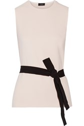 Joseph Murphy Belted Stretch Crepe Top