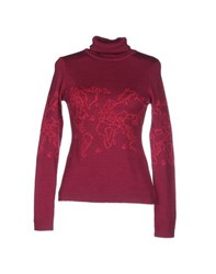 Alviero Martini 1A Classe Knitwear Turtlenecks Women Garnet