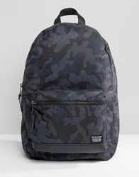 New Look Camo Backpack Blue Pattern