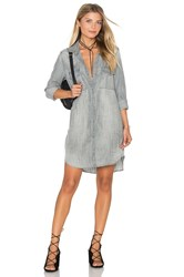 Bella Dahl Utility Shirt Dress Gray