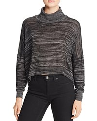 Michelle By Comune Turtleneck Crop Sweater Charcoal Black