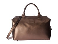 Lipault Miss Plume Medium Bowling Bag Pink Gold Handbags Multi