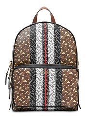 Burberry Monogram And Canvas Backpack Brown