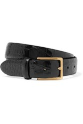 Andersons Anderson's Croc Effect Leather Belt Black