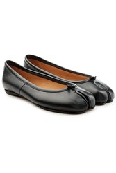 Maison Martin Margiela Leather Split Toe Ballerinas Black
