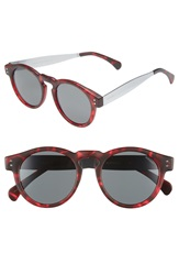 Komono 'Clement' 48Mm Retro Sunglasses Tortoise Silver Smoke