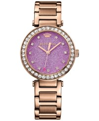 Juicy Couture Women's Cali Rose Gold Tone Stainless Steel Bracelet Watch 34Mm 1901329 No Color