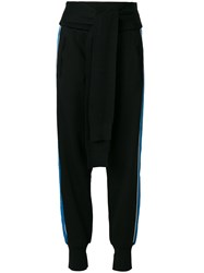 3.1 Phillip Lim French Terry Tie Front Joggers Black