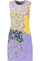 Peter Pilotto Printed Stretch Crepe Dress Yellow