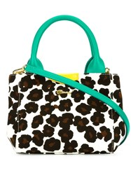 Muveil Small Leopard Print Tote White