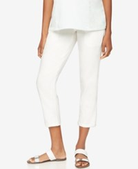 A Pea In The Pod Skinny Maternity Ankle Pants White