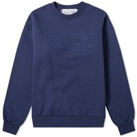 Martine Rose Embroidered Logo Crew Sweat Blue