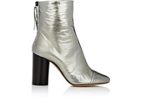 Isabel Marant Women's Grover Wrinkled Leather Ankle Boots Silver