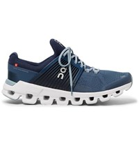 On Cloudswift Rubber Trimmed Mesh Running Sneakers Blue
