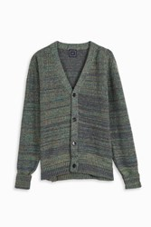 Gray Neon Weave Cardigan Multi