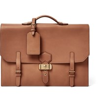 Dunhill Duke Leather Briefcase Tan