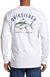 Quiksilver Men's Waterman Collection 'Gut Check' Graphic Long Sleeve T Shirt