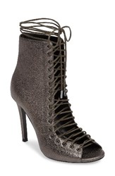 Kendall Kylie Women's 'Ginny' Lace Up Sandal Pewter Leather