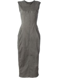 Rick Owens Drkshdw 'Zip On The Back' Dress Grey