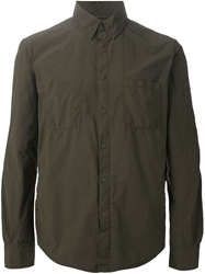 Aspesi Snap Button Fastening Shirt Green