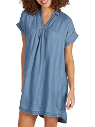 Fat Face Miley Dress Chambray Blue