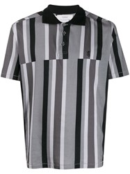 Pringle Of Scotland Deconstructed Striped Polo Shirt 60