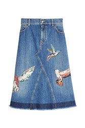 Red Valentino R.E.D. Printed Denim Skirt