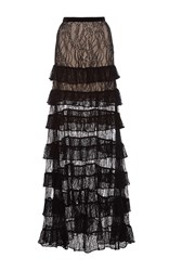 Alexis Vicky Tiered Lace Maxi Skirt Black