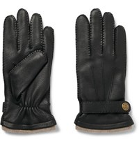 Dents Gloucester Cashmere Lined Leather Gloves Black