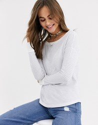 Abercrombie And Fitch Cosy Boat Neck Top Multi