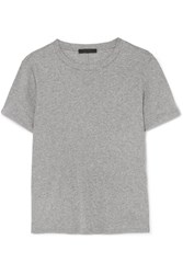 The Row Wesler Cotton Jersey T Shirt Gray