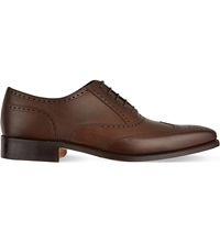 Barker Leather Oxford Brogues Dark Brown
