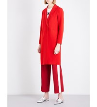 Moandco. Worsted Wool Blend Coat Fiery Red