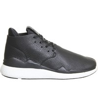 Adidas Y3 Y3 Leather Desert Boots Black White