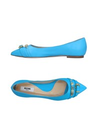 Moschino Ballet Flats Turquoise