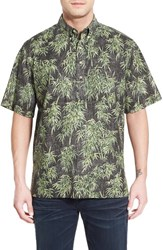 Men's Reyn Spooner 'Bamboo Fields' Classic Fit Wrinkle Free Pullover Shirt Black