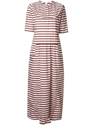 Marni Striped T Shirt Dress White