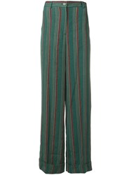 Aspesi Green Linen Trousers