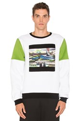Opening Ceremony Space Agriculture Crewneck Sweatshirt White