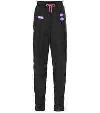 Off White Exclusive To Mytheresa Appliqued Track Pants Black