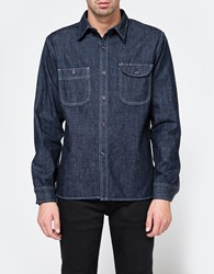 Rogue Territory Work Shirt Rinsed Neppy Blue