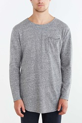 Feathers Baby Terry Curved Hem Tee Grey
