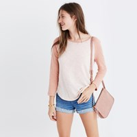 Madewell Baseball Tee Heather Anchor