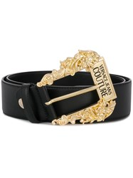 Versace Jeans Couture Oversized Buckle Belt Black