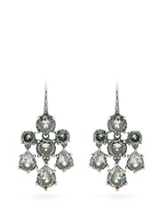Bottega Veneta Cubic Zirconia And Silver Chandelier Earrings Green