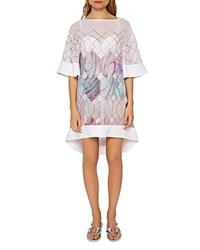 Ted Baker Alban Sea Of Clouds Tunic Swim Cover Up White