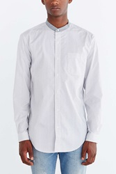 Shades Of Grey By Micah Cohen Poplin Button Down Shirt Blue
